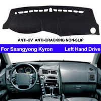 Voiture tableau de bord couverture Dashmat pour Ssangyong Kyron Auto intérieur soleil ombre tableau de bord tapis de couverture tapis Carpe voiture style Anti-soleil