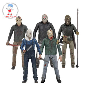 5 Versions 18cm NECA Friday the 13th Part 3/4/5 Action Figures 3D Jason Voorhees PVC Figurine Model Collections Toys Gift