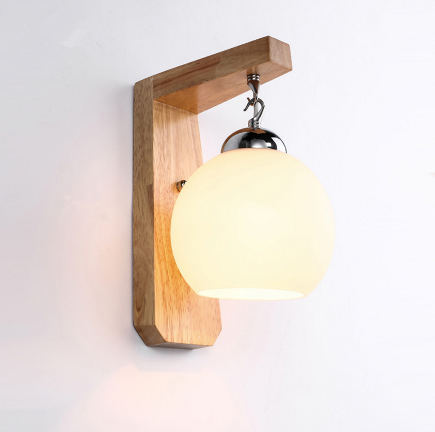 Modern Led Wall Lamp With Glass Lampshade Bedside Aisel Corridor Stairs Bathroom Japan Wooden Wall Light Fixture Hanging LightsModern Led Wall Lamp With Glass Lampshade Bedside Aisel Corridor Stairs Bathroom Japan Wooden Wall Light Fixture Hanging Lights