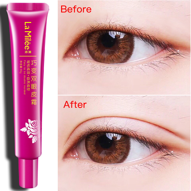Double-fold Eyelids Stereotype Cream Durable Natural Trace Free Invisible Korean Double-fold Eyelid Paste Big Eyes 35g