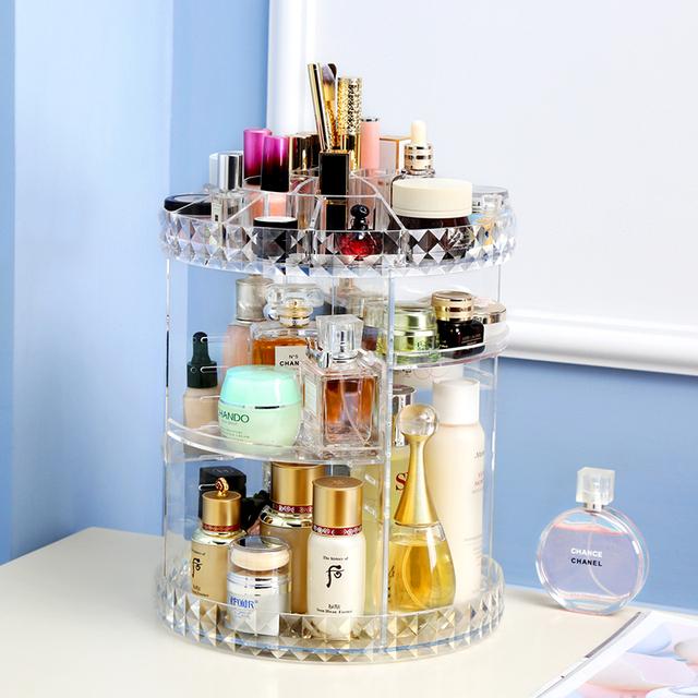 Rotating Crystal Cosmetic Storage Box