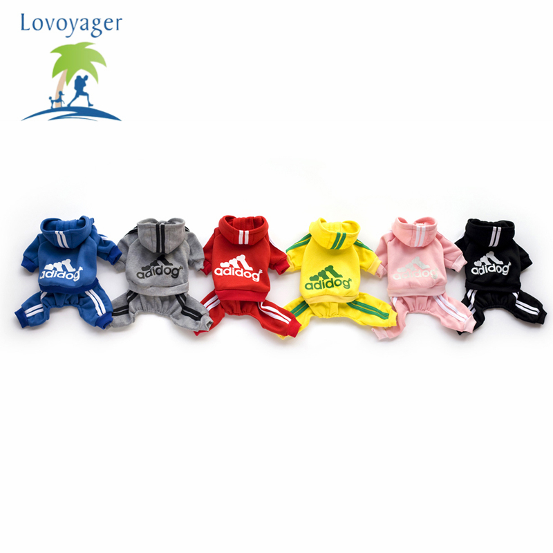 Lovoyager Soft Fleece Adidog Pet Dog Hoodie Sweaters Jumpsuits Puppy Chihuahua Clothes XS XXL