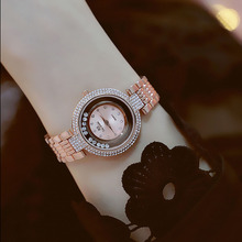 New Hot Sale Rose Gold Silver Crystal Elegant Strap High-grade Round Quartz Female Watch Fashion & Casual Chronograph