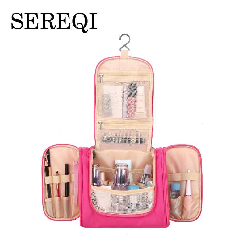 SEREQI Travel Multi-function Three-door Wash Bag Male Ms. Travel Bag Cosmetic Bag Travel Organizer Makeup Bag Travel Accessories