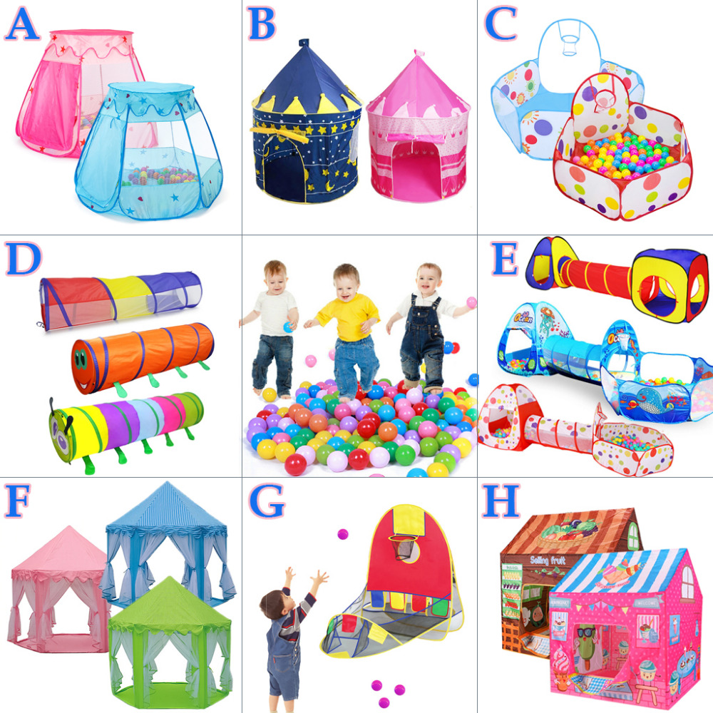 Tent Baby Toys For Kids Tipi Tent Teepee Baby Playhouse Ocean Pool Ball Portable Outdoor Baby Tent House Basketball Ring
