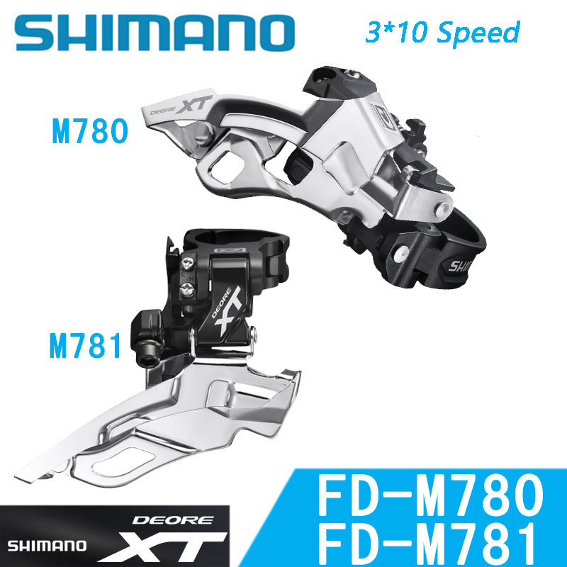 SHIMANO DeoreXT FD M780 M781 Front derailleur Transmission MTB Bike Mountain Bicycle parts 3x10S 30S Speed