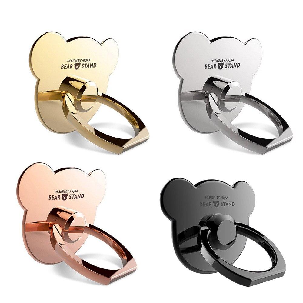<font><b>Ring</b></font> Holder All metal <font><b>bear</b></font> <font><b>ring</b></font> buckle bracket 360 Finger <font><b>Ring</b></font> Stand Holder For iPad iPhone 7 Plus For Samsung Smart <font><b>Phone</b></font>