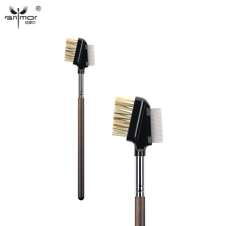 Anmor Eyelash Comb Brush High Quality Eyebrow Makeup Brushes for Daily or Professional Make Up 2016 new arrival black dual purpose eyelash assist device extension beauty supplies brow brush lash comb makeup brushes tools