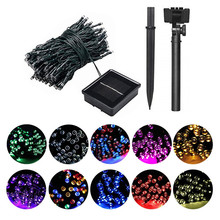 50/100/200 Led Solar Fairy Lights Outdoor Waterproof Street Garland Houses Christmas Garden Decorations String Light Strip Chain 22m 200 led solar strip light outdoor lighting garland christmas trees led string fairy lights waterproof for wedding garden new