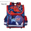 Top Quality Folded Orthopedic Breathable Boys Spiderman Backpacks Children Cartoon School Bags For Kids Satchel Mochila Escolar