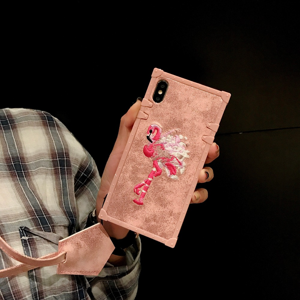Cases For Huawei P20 Pro P20 Cover 3D Pink Embroidery  (3)
