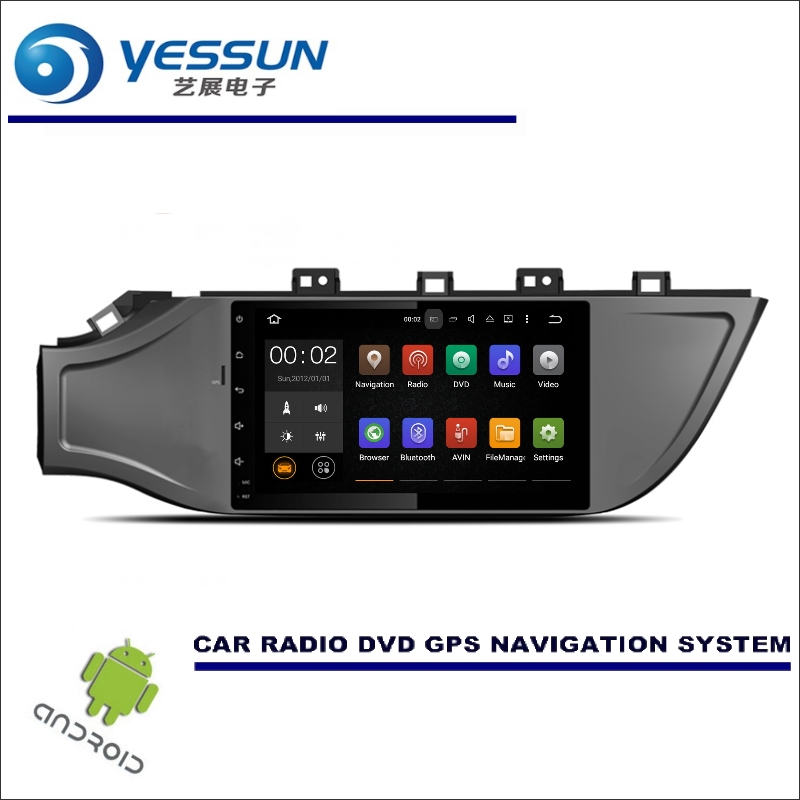 YESSUN Wince / Android Car Multimedia Navigation For KIA K2 / RIO 2017 LHD GPS Player Navi Radio Stereo No CD DVD Player