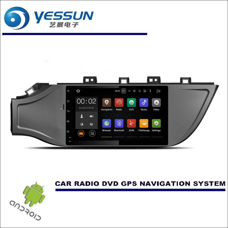 YESSUN Wince/Android voiture multimédia Navigation pour KIA K2/RIO 2017 LHD GPS lecteur Navi Radio stéréo pas de lecteur CD DVD
