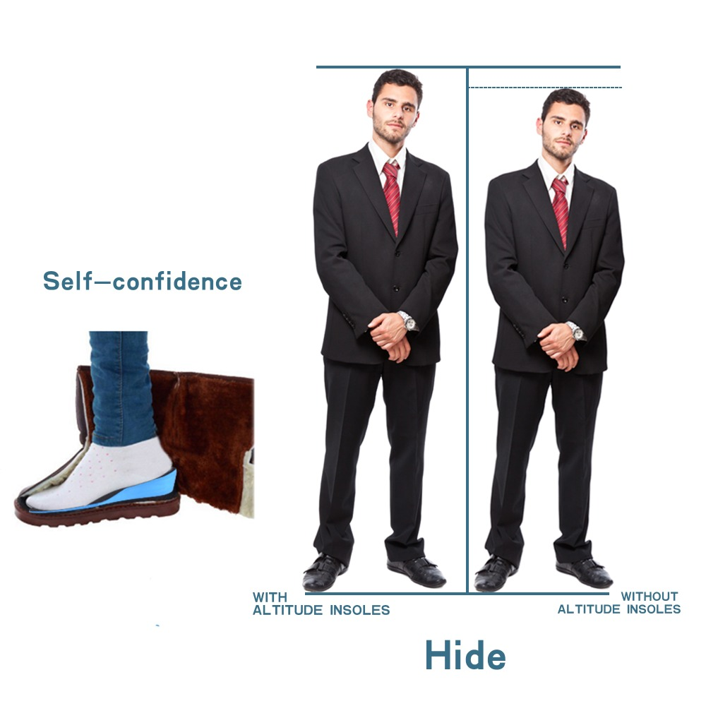 ELEFT High quality EVA Elevator insole for Invisible Height Increased Insoles breathable shock-absorbant 1-3cm for men and women