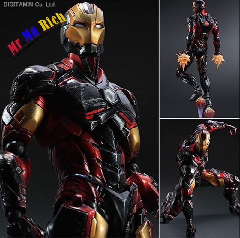 Play Arts Kai Iron Man Super Hero Age Of Ultron Tony Stark Hulkbuster Pa 25cm Pvc Action Figure Doll Toys Kids Gift Brinquedos xinduplan marvel shield iron man avengers age of ultron mk45 limited edition human face movable action figure 30cm model 0778
