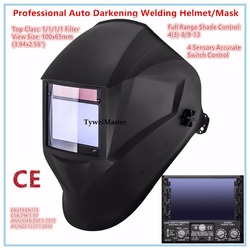 Lassen Helm Premium Masker 100*65mm 1111 4 Sensoren Filter Lasser Hoed Cap Solar Auto Verduistering MIG TIG slijpen 3-13 CE UL CSA