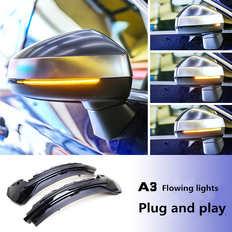 For Audi A3 8V LED Flowing Rearview Mirror Turn light
