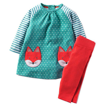 girls clothing sets applique children clothing sets for 2-7T baby girl clothes autumn cotton 2 pcs set hot selling suits girl kids sets for girls clothing set 2018 winter clothes little girls clothing baby girl suits fashion children boutique outfits
