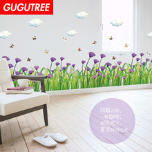 Decorate buttlefly flower cloud art wall sticker decoration Decals mural painting Removable Decor Wallpaper LF-1879