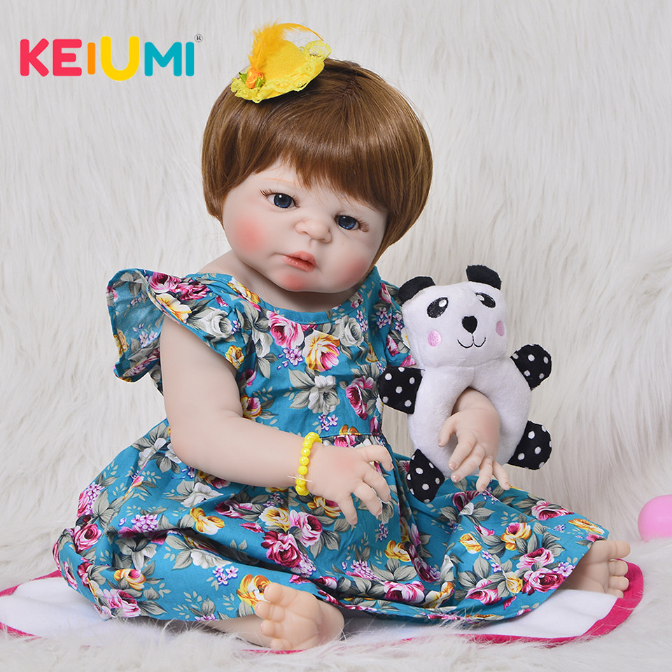 57 cm Full Body Silicone Reborn Baby Girl Doll Toys Realistic 23 Inch Newborn Princess Toddler Babies Doll Children's Day Gifts цена