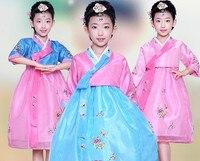 Girl Korean Traditional Costume Children Minority Folk Ancient Korea Hanbok Kids Show Stage Dance Clothing Asian Hanbok Dress