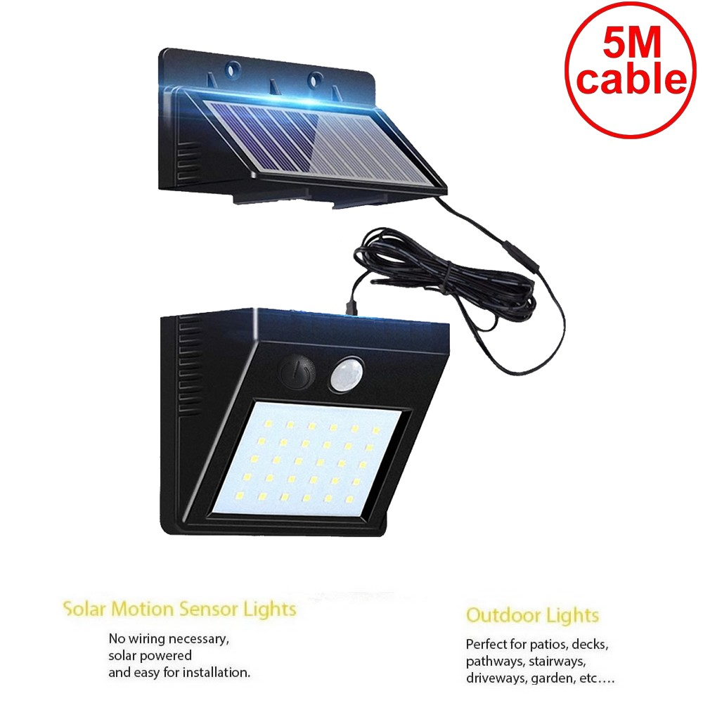 30 Leds Solar Light Split Mounting PIR Motion Sensor Led Indoor Outdoor Lamp Waterproof Ip65 For Street Garden Patio Home Camps