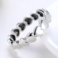Tuker New Collection Heart Stackable Finger Ring For Women Wedding 100 925 Sterling Silver Jewelry