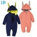 Idgirl bebé arropa los mamelucos del bebé recién nacido ropa de una sola pieza del bebé del mono con capucha de conejo niños ropa jy0286