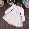 Wholesale 5pcs/lot Girl Dresses Princess Party Ball Gown Kids Dress Girls Clothes Flowers Colourful Embroidery Children Dress