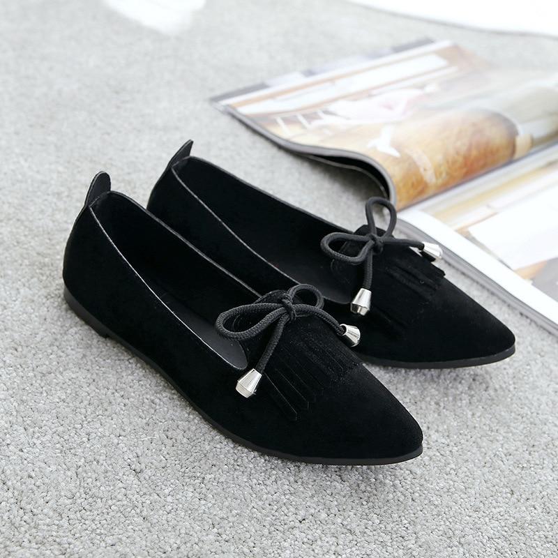 2018 Rond Plates Mode Dames Casual Douce Chaussures Mocassins Bowtie Confortable Femme De Printemps Été Bout Noir Gland gris Appartements Femmes RqvYwR