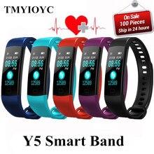 Y5 Smart Band активности фитнес-трекер с сердечный ритм умный Браслет smartband электронные браслеты PK ck11s plug miband z11