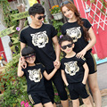 Equipo padre-hijo verano 2016 nueva familia tigre cabeza de manga corta traje de padre e hijo madre e hija