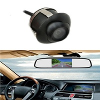 4.3LCD Reversing camera 360 degree universal adjustable car camera HD rear view reversing image reversing parking system 7LCD