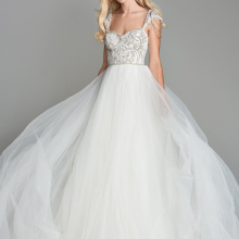 Loverxu Wedding Dress 2019 Sleeveless Bride Dress