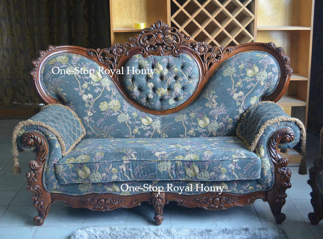 Merveilleux Old Fashion Antique Style Dyed Royal Furnishing Sofa Set Jacquard Fabric  Living Room Furniture Set