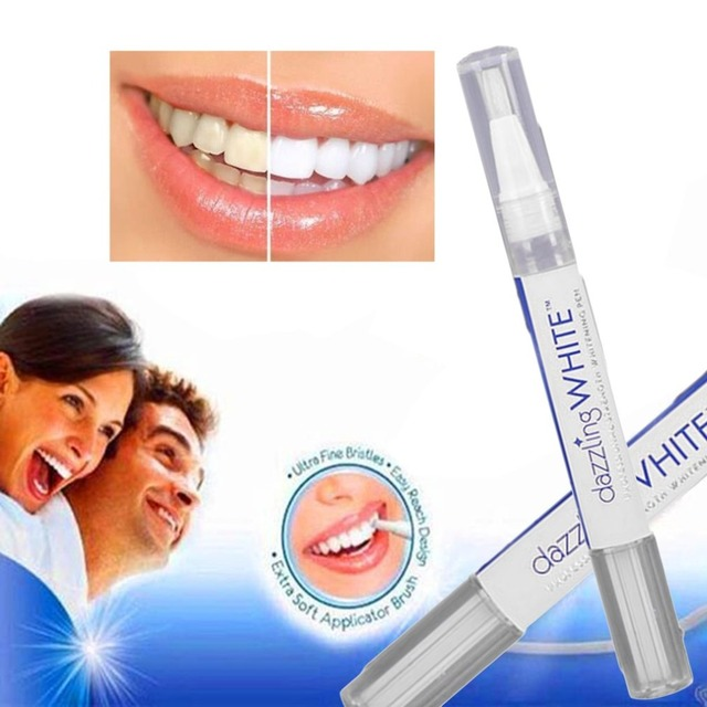 2ml Rotatable Tooth Whitening Gel Teeth Whitener Pen with Brush Remove Tooth Stains Cleaning Bleaching Kit Dental Oral Care Tool