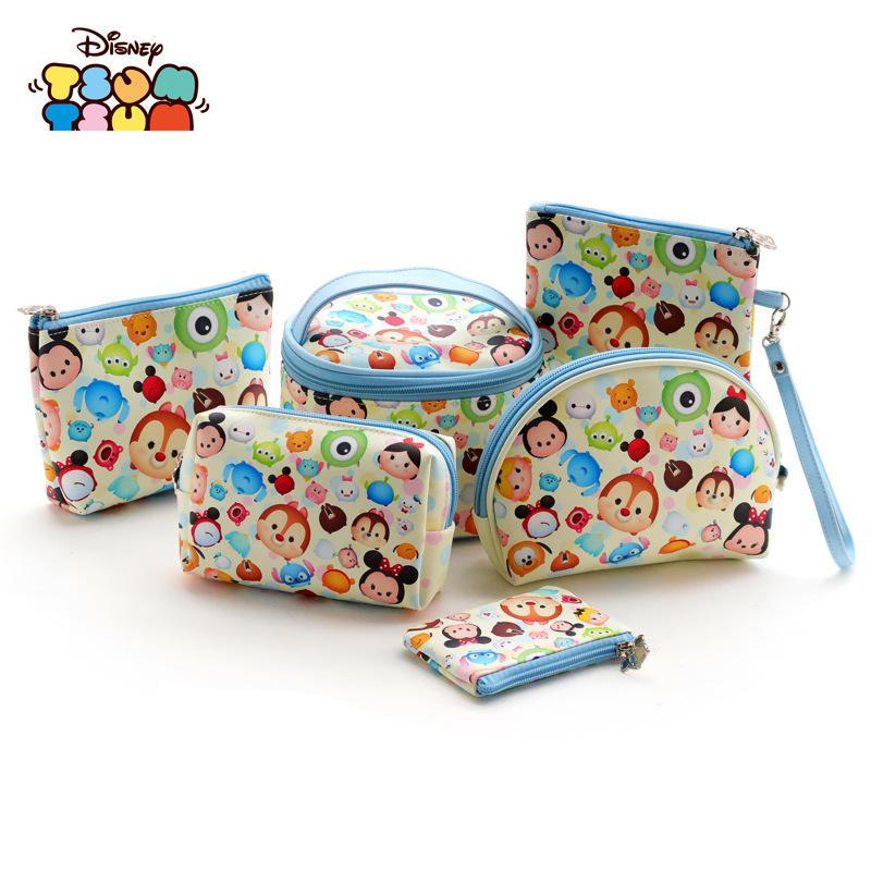 6pcs lot Disney children s doll accessories cosmetic bag tsum cartoon millet multi function storage bag