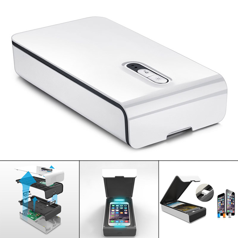 Hot New Portable Cellphone Sanitizer With USB Charger Aromatherapy Multifunction UV Light Disinfection Box HY99 DC25