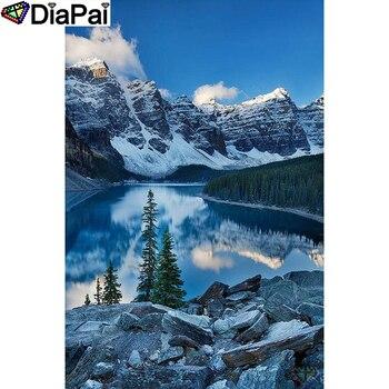 """DIAPAI 5D FAI DA TE Pittura Diamante 100% Pieno Quadrato/Rotondo Trapano """"montagna di Neve"""" di Diamante Del Ricamo A Punto Croce 3D decorazione A22058"""