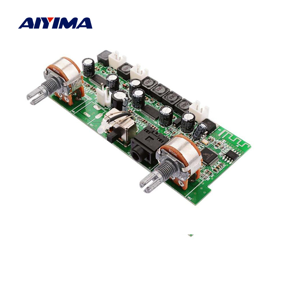 AIYIMA Bluetooth Amplifier Audio Board 10Wx2+15W 2.1 Channel Power Amplifiers MP3 WAV Audio Decoder Board Support AUX