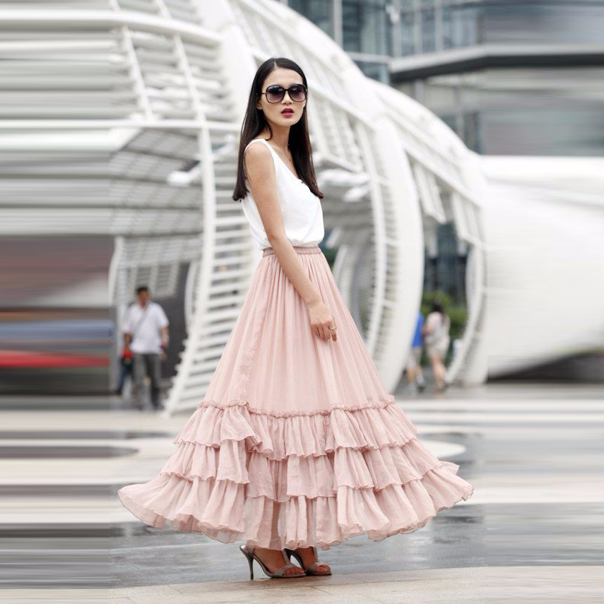 Popular Tiered Skirt Long-Buy Cheap Tiered Skirt Long lots ...