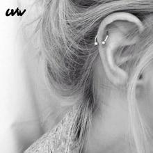 UVW037 1 шт., трендовая хирургическая сталь, с-образный сегмент, трагус, поддельные перегородки, кольца для носа, шпилька, спираль, пирсинг, ювелирные изделия для тела, женские серьги