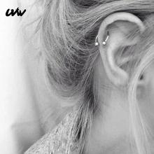 UVW037 1 pc Trendy ze stali chirurgicznej w kształcie litery C segmentu Tragus fałszywe przegrody nosa pierścienie stadniny Helix Piercing ciało biżuteria kobiety kolczyki tanie tanio Ze stali nierdzewnej Moda Okrągły Kolczyki w nosie i szpilki Metal