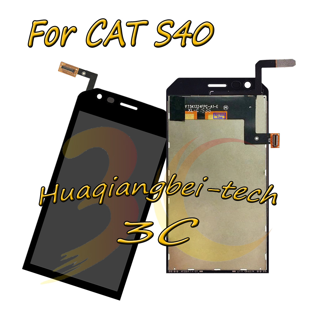 4.7 New Black For Caterpillar CAT S40 Full LCD DIsplay + Touch Screen Digitizer Assembly Replacement Parts 100% Tested 4.7 New Black For Caterpillar CAT S40 Full LCD DIsplay + Touch Screen Digitizer Assembly Replacement Parts 100% Tested