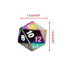 High Quality 7Pcs Rainbow Metal Polyhedral Role Playing Game Dice DND RPG MTG