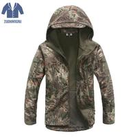 Zuoxiangru Army Camouflage Men Jacket Coat Military Tactical Jacket Winter Waterproof Soft Shell Jackets Windbreaker Hunt Clothe