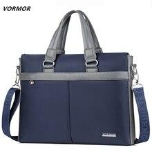 VORMOR Top Sell Fashion Simple Famous Brand Business Men Briefcase Bag Oxford