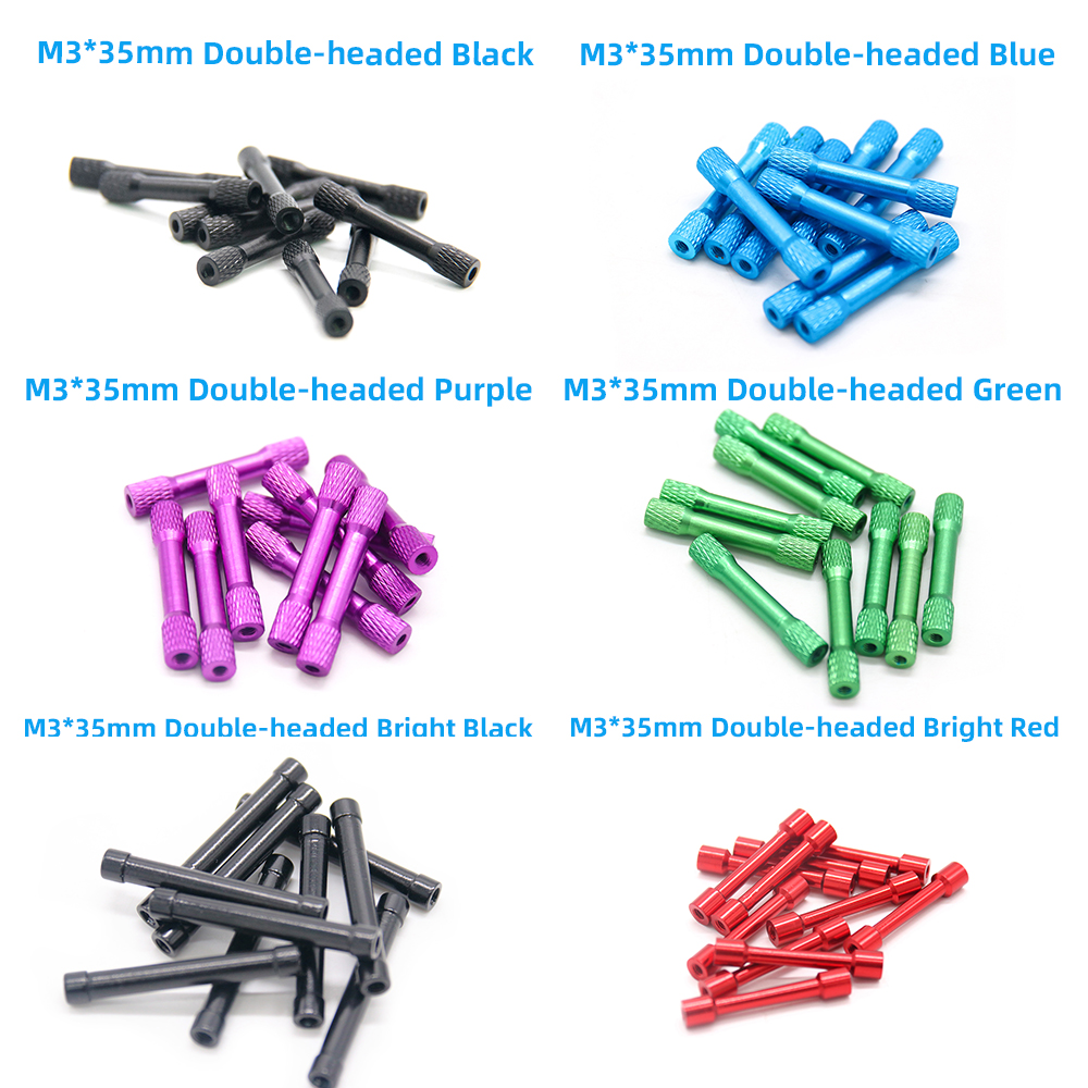 TCMM 10pcs/lot M3 Aluminum Standoff M3*3/<font><b>5</b></font>/8/15/20/22/25/<font><b>27</b></font>/<font><b>29</b></font>/30/35/37/45/47 Aluminium Spacer for RC Quadcopter Aluminum Frame image