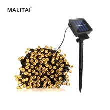 7/12/22M Fairy Solar LED String lamp Garden Ambiance light Patio Lawn Landscape Wedding Holiday Party Outdoor Decor Path light