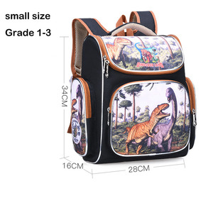 Image 5 - New Bag for School Children School Backpack Boys 3D Animal Dinosaur Knapsack Kids Satchel Space School Bags Mochila Escolar